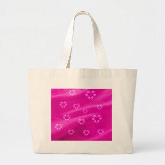 Hearts on Jersey,pink Jumbo Tote Bag