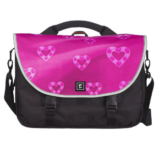 Hearts on Jersey,pink Computer Bag