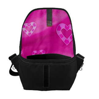 Hearts on Jersey,pink Courier Bag