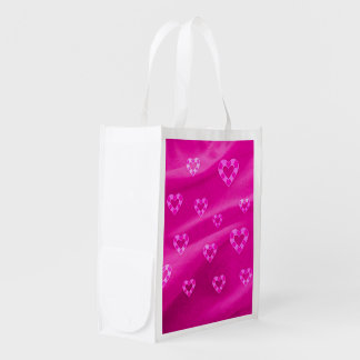 Hearts on Jersey,pink Market Tote