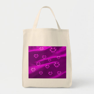 Hearts on Jersey,purple Grocery Tote Bag