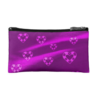 Hearts on Jersey,purple Makeup Bags