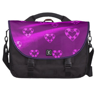 Hearts on Jersey,purple Laptop Messenger Bag