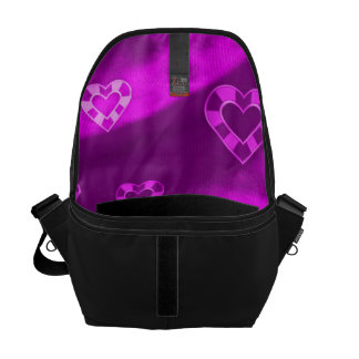 Hearts on Jersey,purple Courier Bag