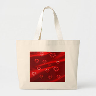 Hearts on Jersey,red Jumbo Tote Bag