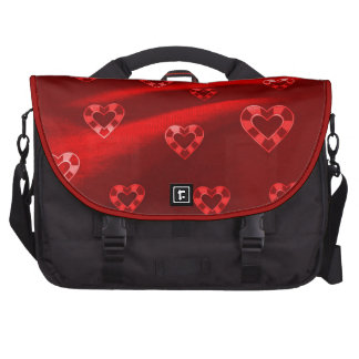 Hearts on Jersey,red Bag For Laptop