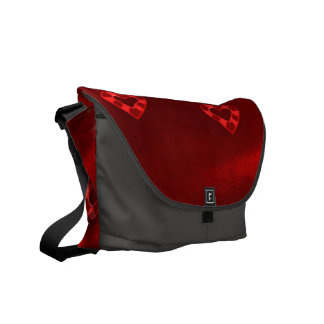 Hearts on Jersey,red Courier Bags