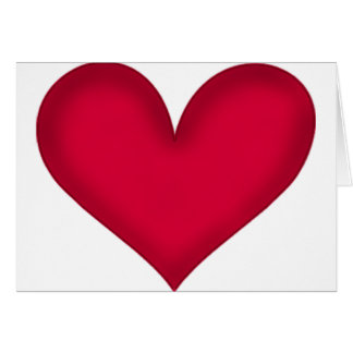 hearts on paper greeting card