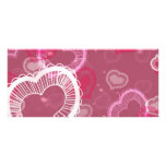 Hearts on Pink Full Color Rack Card