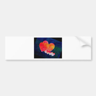 Hearts on sunshine gifts bumper sticker