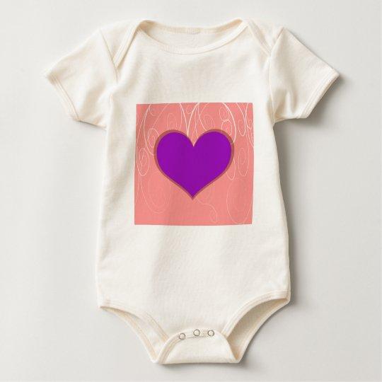 Hearts on Swirls Baby Bodysuit