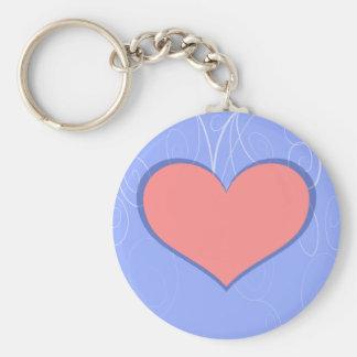 Hearts on Swirls Keychain