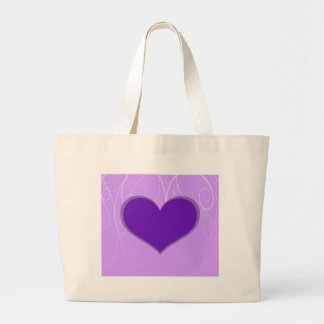 Hearts on Swirls Large Tote Bag