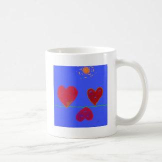 Hearts on the Line Classic White Coffee Mug