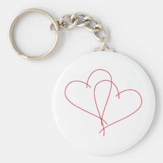 Hearts Open Keychain