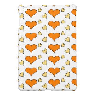 hearts orange iPad mini cases