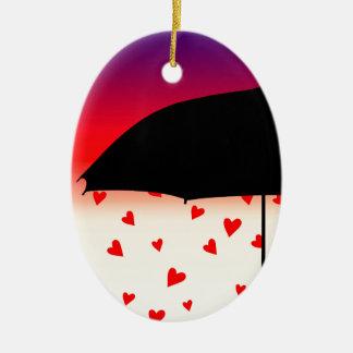 Hearts Original Design Ceramic Ornament