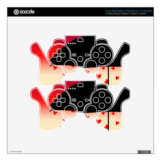 Hearts Original Design Skin For PS3 Controller