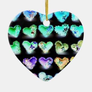 Hearts Double-Sided Heart Ceramic Christmas Ornament