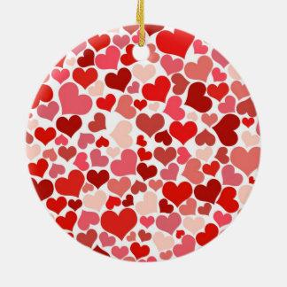 Hearts Christmas Tree Ornaments