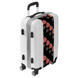 Hearts Ornate Line Design Luggage