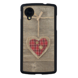 Hearts over a Wooden Table Carved® Maple Nexus 5 Case