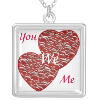 Hearts Overflowing with Love Silver Plated Necklace