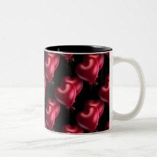 hearts paded mug