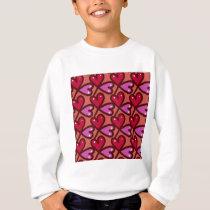 hearts pattern #2 sweatshirt