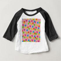 hearts pattern baby T-Shirt