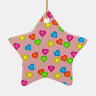 hearts pattern ceramic ornament