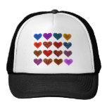 Hearts Pattern Design Mesh Hat