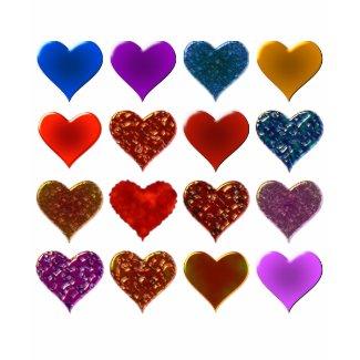 Hearts Pattern Design shirt