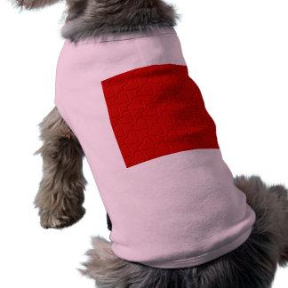 Hearts Pattern Dog Tshirt