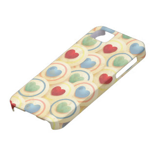 Hearts pattern in vintage style iPhone SE/5/5s case