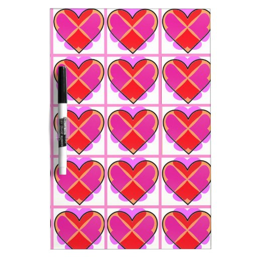 Hearts, pattern of love. Dry-Erase whiteboards
