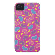 Hearts Pattern Pink iPhone 4 Case