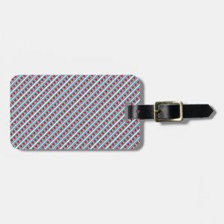 Hearts pattern stripes bag tag