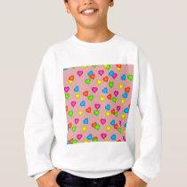 hearts pattern sweatshirt
