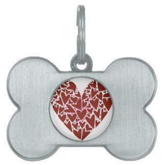 Hearts Pet Name Tag