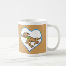 Hearts Photo Coffee Mug Brown