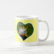 Hearts Photo Coffee Mug Yellow