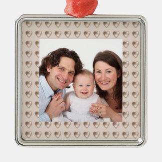 Hearts/Photo Metal Ornament