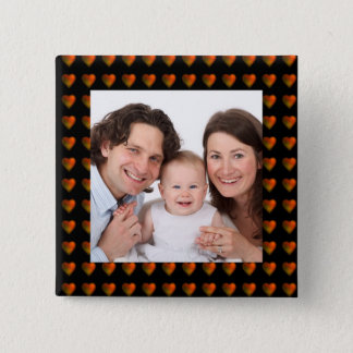 Hearts/photo Pinback Button