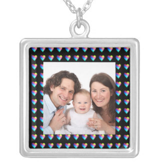 Hearts/Photo Silver Plated Necklace