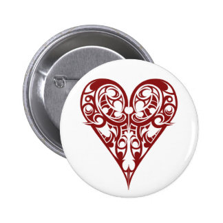 hearts pinback button
