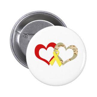 Hearts Pinback Button