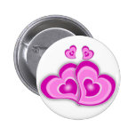 Hearts Pinback Buttons