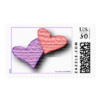 Hearts Pink and Purple Postage
