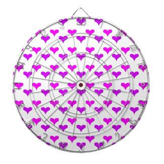 hearts pink purple dartboards